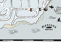 Map Design for Jack O'Neill Paddle Out, Oneill Wetsuits