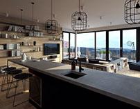 contemporary interior visualizations