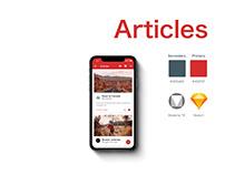 UI/UX Material Design App Article