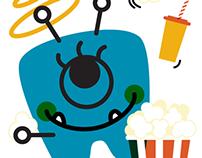 Movie Themed Wall Decals - Pediatric Dentist