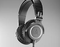 CGI - Audio Technica ATH-M50x 3D Model