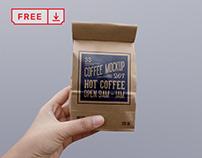 Free Paper Coffee Bag PSD Mockup