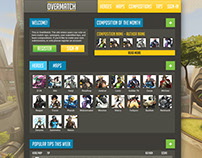 OverMatch - An Overwatch website concept