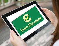 Euro Elevator Logo Design