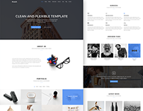 Krunch Free Agency Landing Page Design PSD