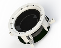 Inwall plastic unit for inwall soundbar