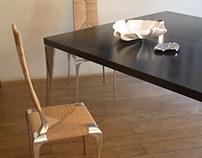 Noah Chair + Hel Table - Mattia Frignani Design