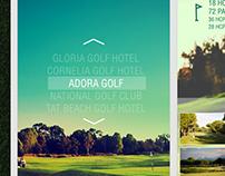 Golf App / Web Site Prototype
