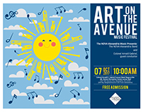 ART ON THE AVENUE MUSIC FESTIVAL ILLUSTRATION & FLYER