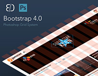 Bootstrap 4.0 Responsive PSD Grid, Mobile & Desktop