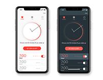 Alarm clock (light & dark mode)