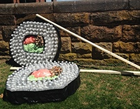 Plastic Sushi: What goes in the ocean, goes in you.