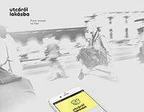 utcáról lakásba - from street to flat app