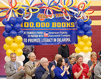 Rolling Thunder Book Bus 100,000th Book Banner