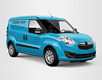 Opel Combo Van Mockup
