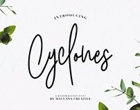 Cyclones Signature Brush Font