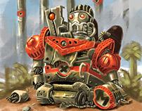 Broken Jupiter King From Metal Slug Franchise