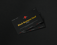 Free Black Business Card Mockup