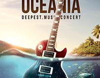 Oceania Music Concert Flyer PSD Template