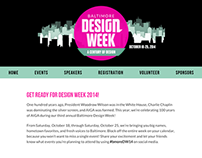 AIGA Baltimore Design Week Microsite, 2014