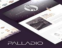 Jewelry brand Palladio / website / landing page / UI/UX