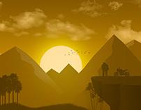 Couple Seeing Sun : Illustration#3