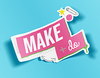 """Make + Do"" Show Logo Development"