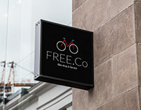 FREE.Co Bike Shop & Service Brand Identity