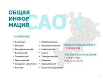 Презентация для мэрии Москвы по САО