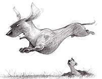 Thats One Hi Flying Wiener Dog!