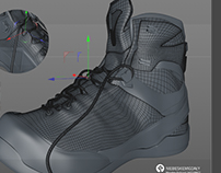 modeling shoe 3D modelowanie buta 3D - work in progress
