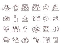 Free Vector Wedding Icons