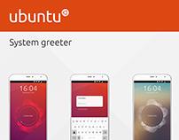 Ubuntu System Greeter