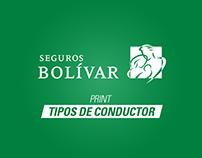 Print Seguros Bolívar - Tipos de conductor