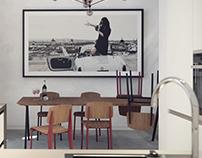Кухня, проект квартиры в Будапеште.