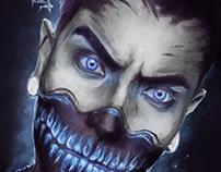 """Portrait painting: """"Evil Zombie"""""""