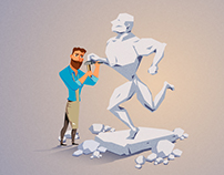 Beardman - sculptor