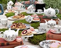 Alice in Wonderland Tea Set Illustration & Design