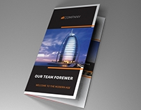 Indesign Template A4 trifold brochure Dubai