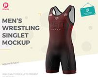Men's Wrestling Singlet Mockup