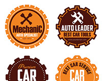 Car Mechanic vector badges