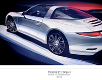 Porsche 911 Targa 4 Illustration