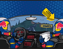 Red Bull Rally - Illustration