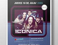 Afiche para banda Iconica