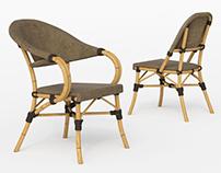 Rotang Bamboo Chairs 3d model
