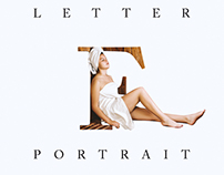 How to Create Letter Portrait Photoshop Tutorial Double