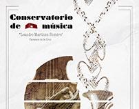 Cartel Conservatorio de música