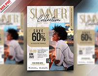 Season Fashion Sale Flyer PSD Template