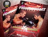 MMA Fight Night Flyer
