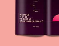 Quote Design on Two-Page Spread